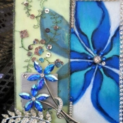 blue-flowers-mixed-media-6x8