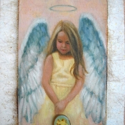 little-angel-mixed-media-6x8